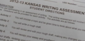 News:  Juniors complete Kansas state writing assessments in November