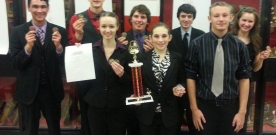 News:  Forensics team attends numerous tournaments, wins league again