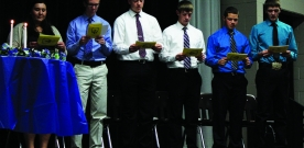 News: Wege discusses National Honors Society inductions
