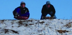 Opinions:  Staff members test out popular sledding spots in the area