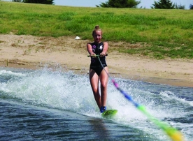 Features: Junior expresses her love of water though water sports