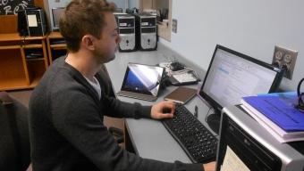 Features:  Zabel retires as computer specialist, while Davis begins work