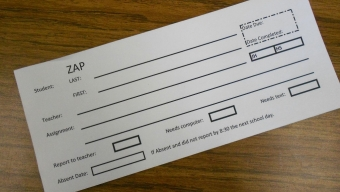News:  Changes made to ZAP program again for this school year